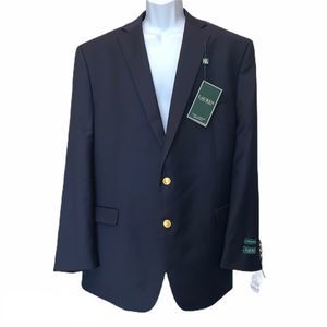 Ralph Lauren Total Comfort Navy Sportcoat 48 Long